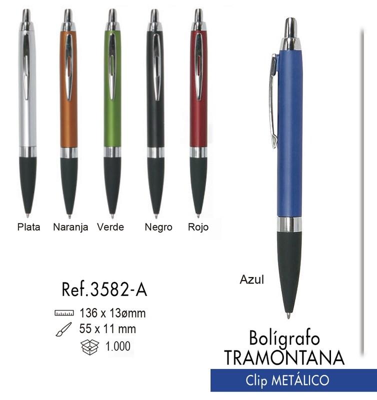 Bolígrafo Tramontana. Clip metálico