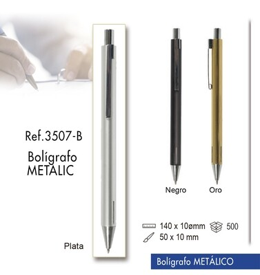 Bolígrafo Metalic. Bolígrafo metálico
