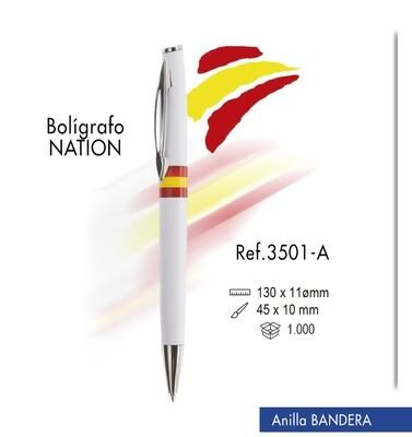 "Bolígrafo ""Nation"". Anillas con bandera"