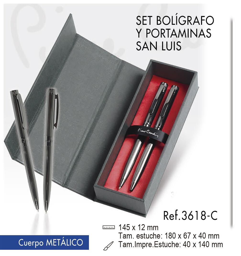 """Set bolígrafo y portaminas """"San Luis"""""""