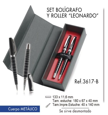 "Set bolígrafo y roller ""Leonardo"""