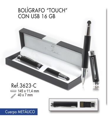 "Bolígrafo ""Touch"".  USB 16 GB"