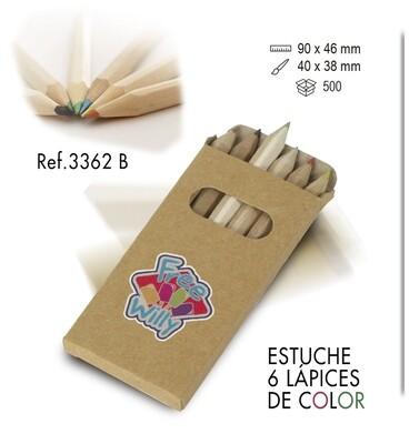 Estuche 6 lápices de colores