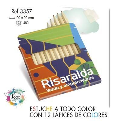 Estuche a todo color 12 lápices de colores