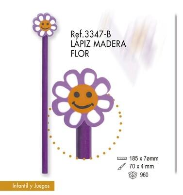 Lápiz de madera flor