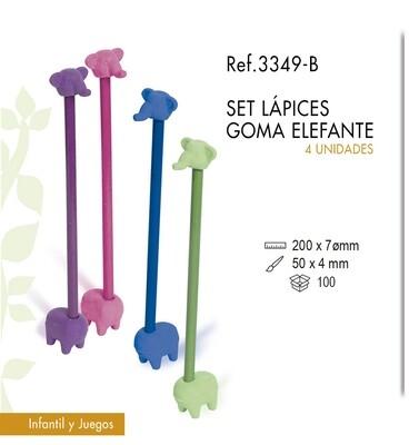 Set de lápices con goma elefante