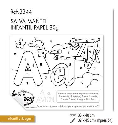 Salvamantel infantil en papel