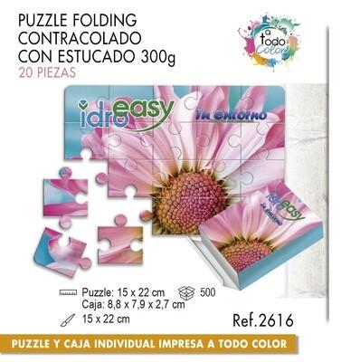 Puzzle impreso a todo color. Medias 15 X 22 cm