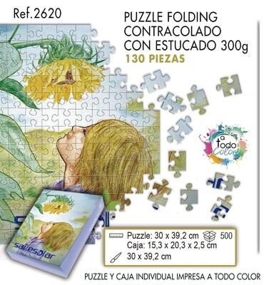 Puzzle impreso a todo color. Medias 30 X 39,2 cm