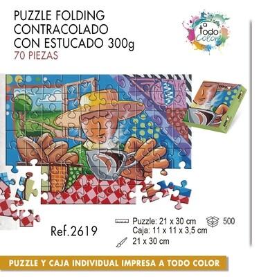 Puzzle impreso a todo color. Medias 21 X 30 cm