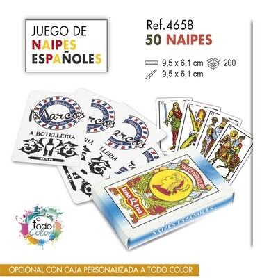 Baraja de naipes españoles. 50 NAIPES