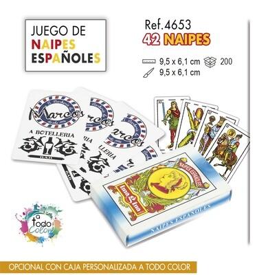 Baraja de naipes españoles. 42 NAIPES