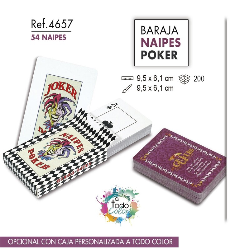Baraja de naipes Poker