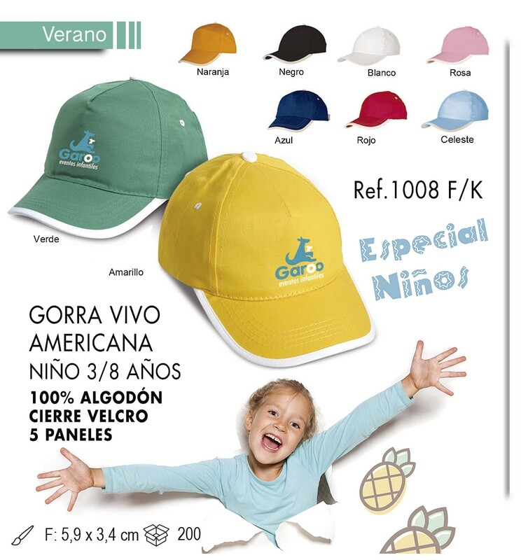 Gorra americana niño