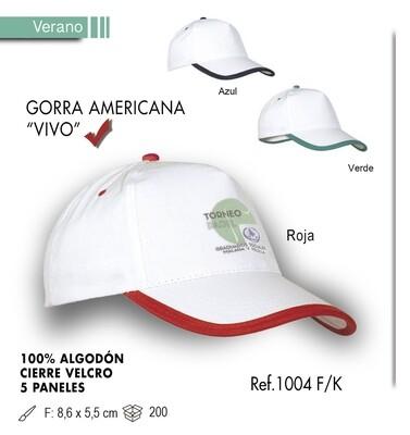 Gorra americana vivo