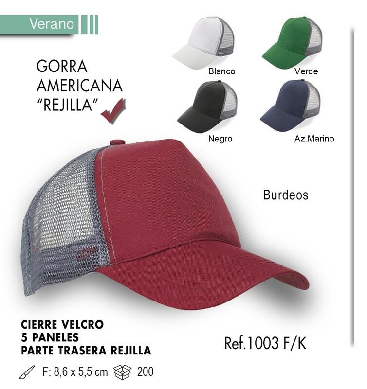 Gorra americana rejilla