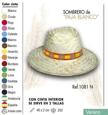 Sombrero de paja blanco