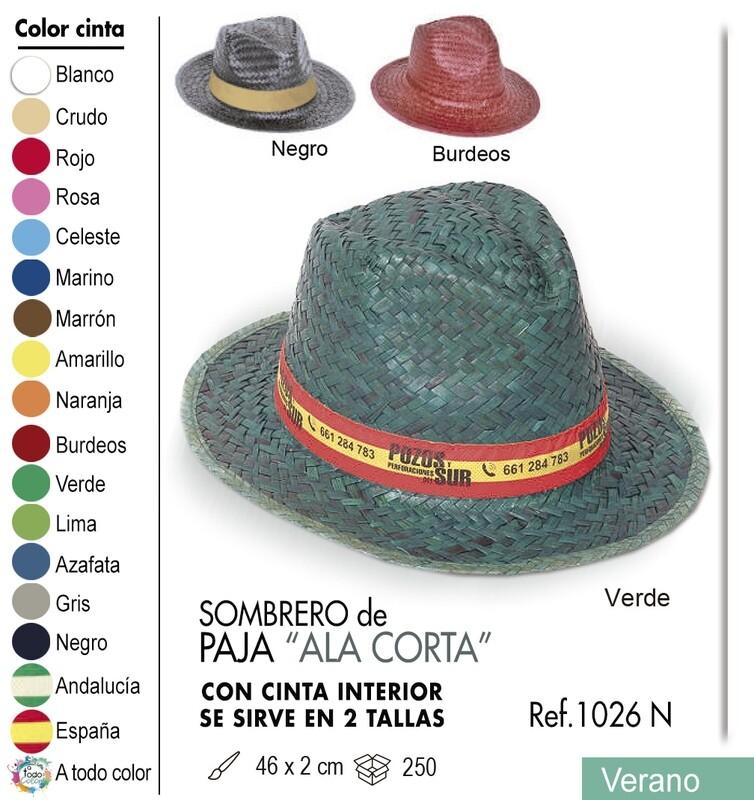 Sombrero de paja ala corta