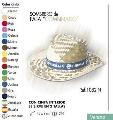 """Sombrero de paja """"combinado"""""""