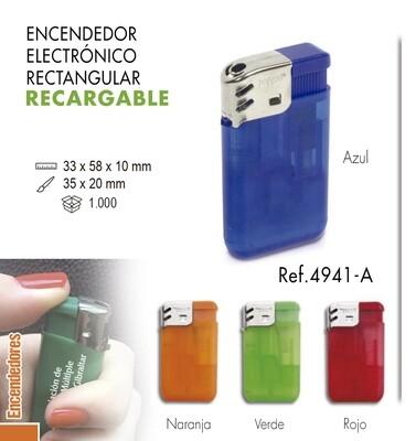 Encendedor electrónico rectangular