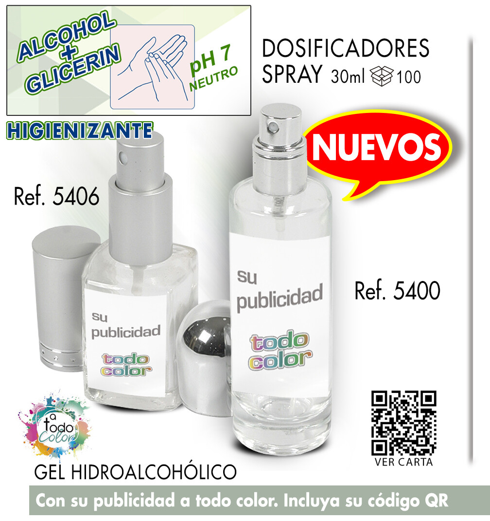 Gel dosificadores CRISTAL SPRAY 30 ml