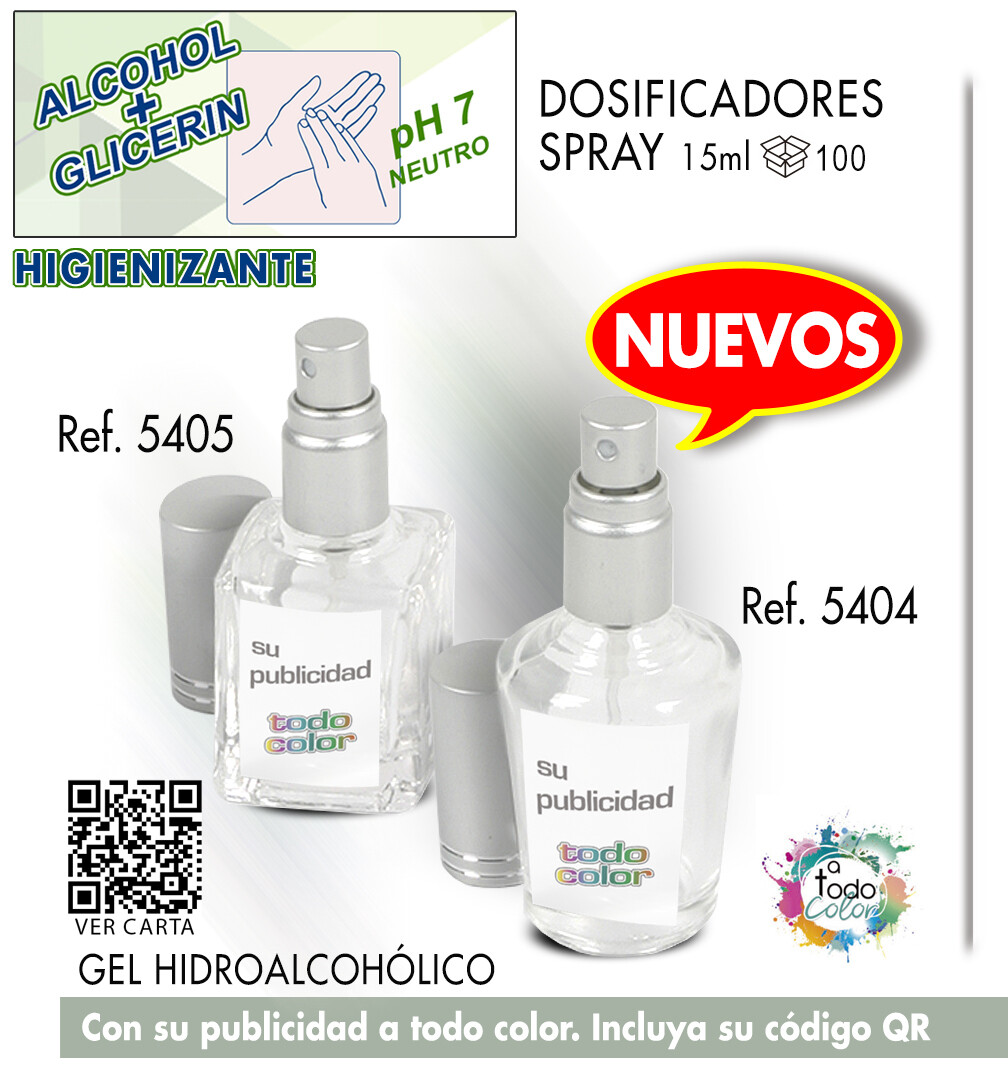 Gel dosificadores CRISTAL SPRAY 15 ml