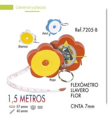 LLavero flexómetro flor