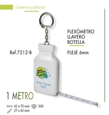 LLavero flexómetro botella