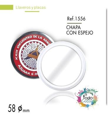Chapa/Espejo 58 mm diámetro