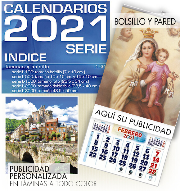 Calendarios SERIE bolsillo y pared