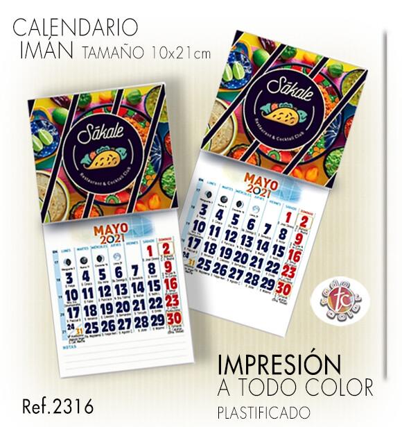 Calendarios IMÁN MENSUAL