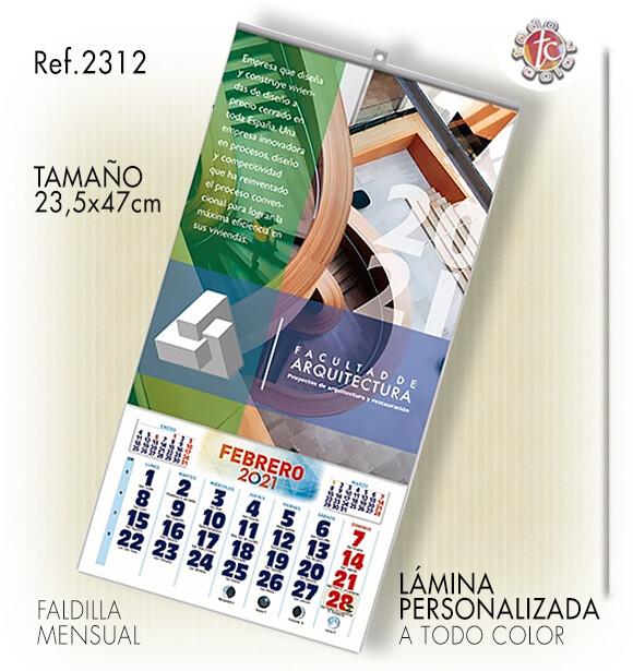 Calendario PARED ESPECIAL 23.5X47 MENS