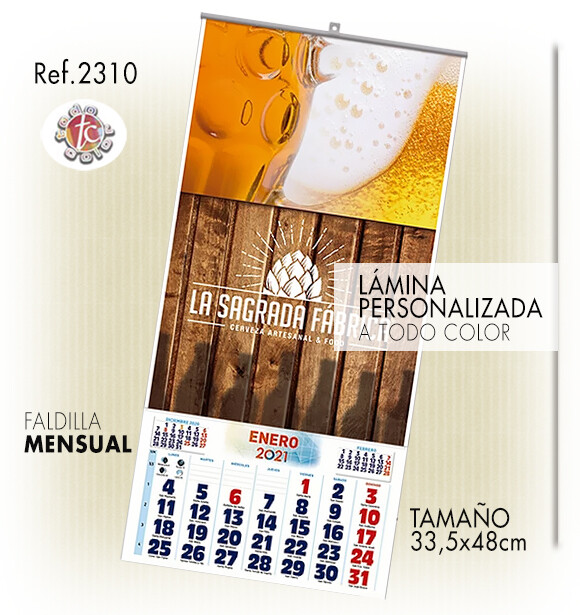 Calendario PARED ESPECIAL 33.5X48 MENS