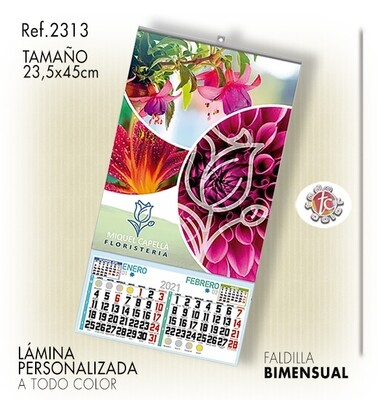 Calendario PARED ESPECIAL 23.5X45 BIM