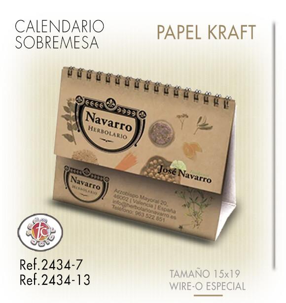 Calendario Sobremesa Wire-o Kraft