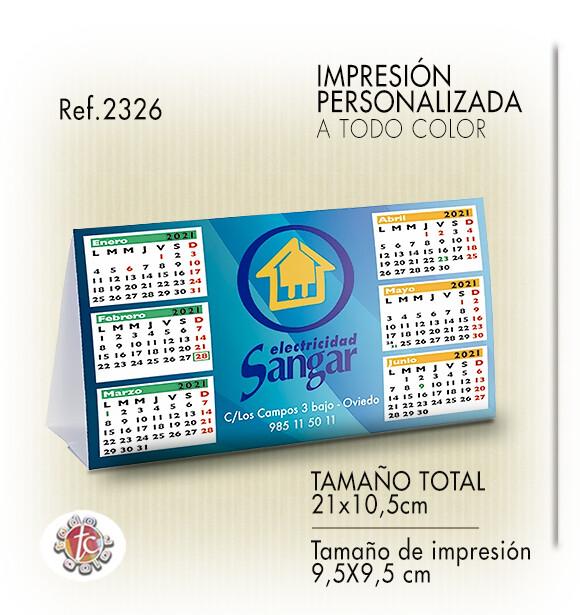 Calendario Sobremesa SEMESTRAL