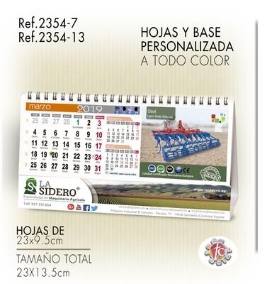 Calendario Personalizado WIRE-O 23X13.5