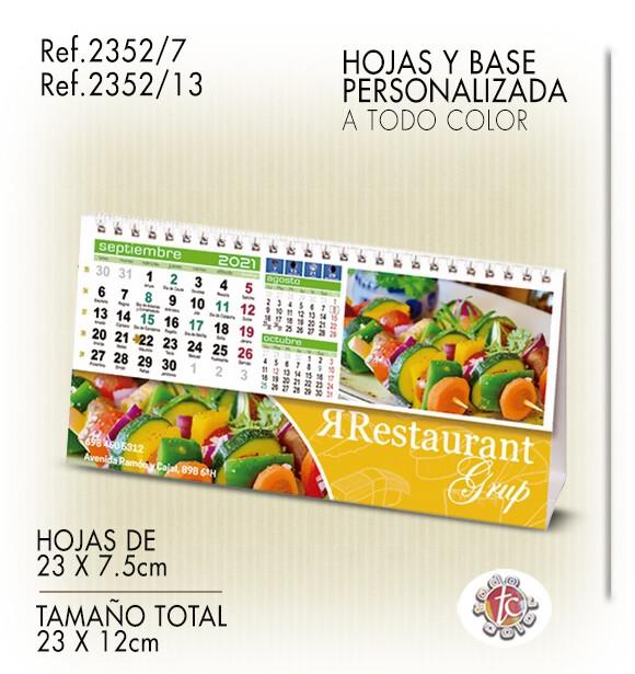 Calendario Personalizado WIRE-O 23X12