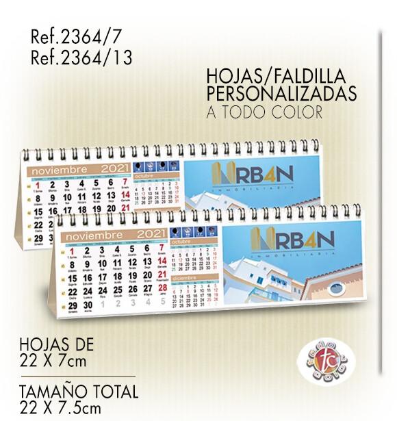 Calendario Personalizado WIRE-O 22X7.5