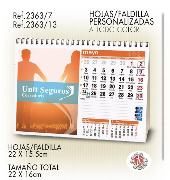 Calendario Personalizado WIRE-O 22X16