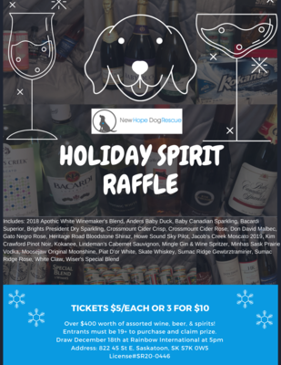 Holiday Spirit Raffle Tickets