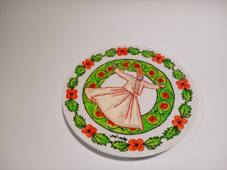 Ceramic plate 6