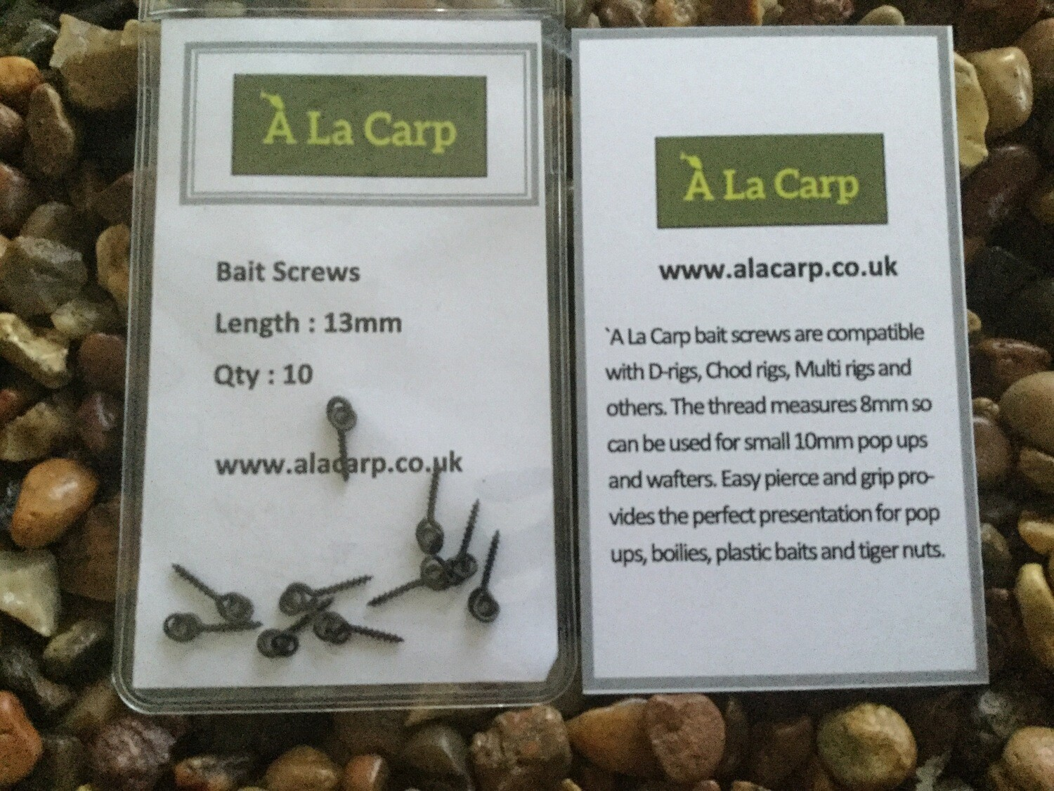À La Carp Bait Screws 13mm  (Qty: 10)
