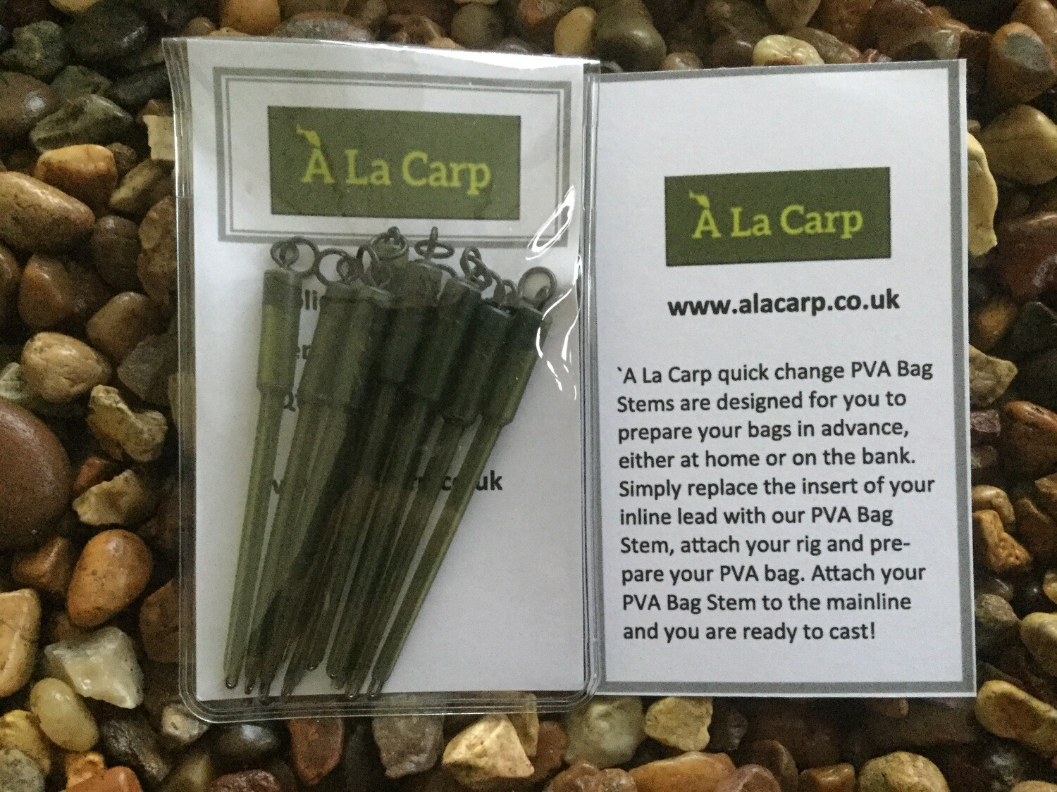 `A La Carp Solid PVA Bag Stems 70 mm (Qty : 10)