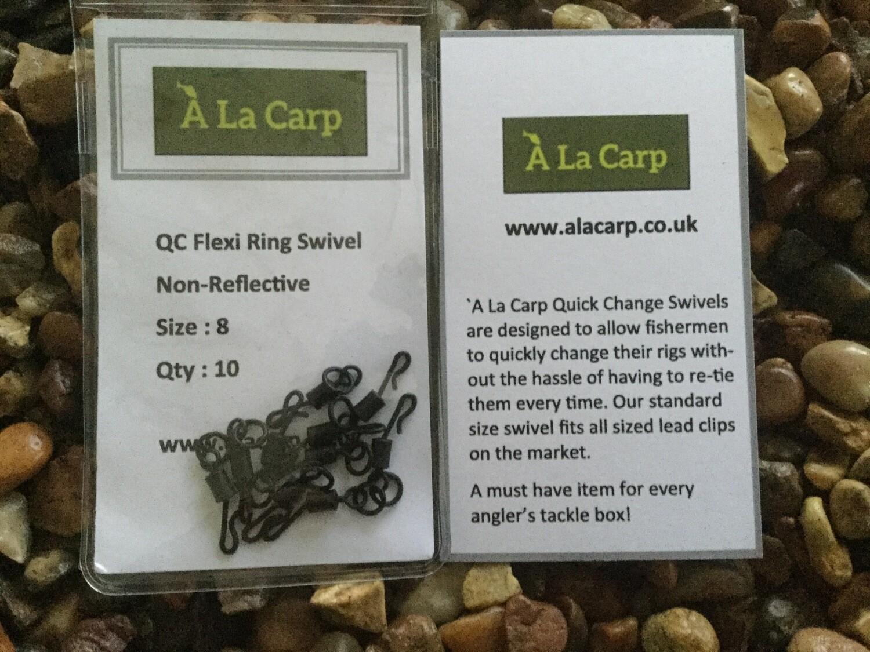 `A La Carp QC  Flexi Ring Swivel size 8  (Qty: 10) Free UK Delivery
