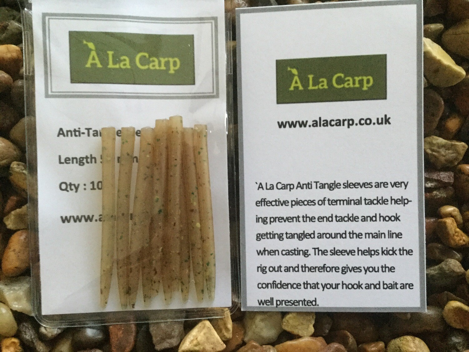 `A La Carp Anti-Tangle Camo Sleeves 55 mm (Qty: 10) Free UK Delivery