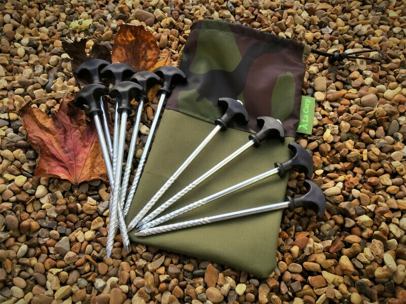 Bivvy Pegs  x10  Including carry bag
