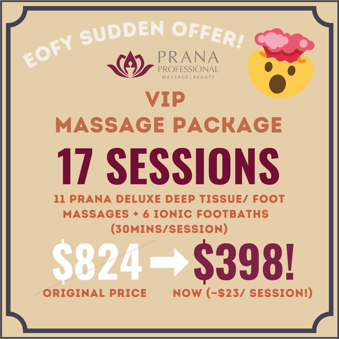 VIP Massage Package - $824