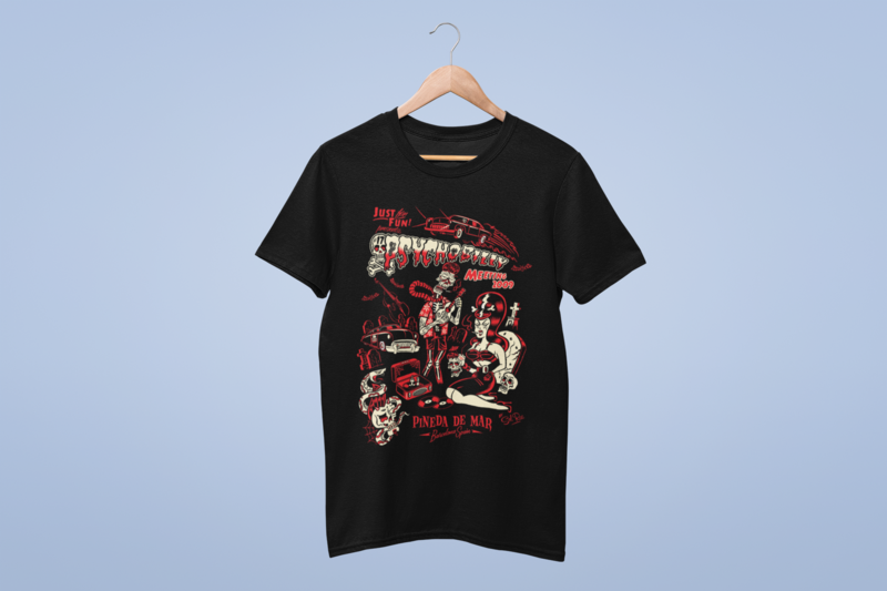 PSYCHOBILLY MEETING 2009 T-SHIRT MAN BY SOLRAC