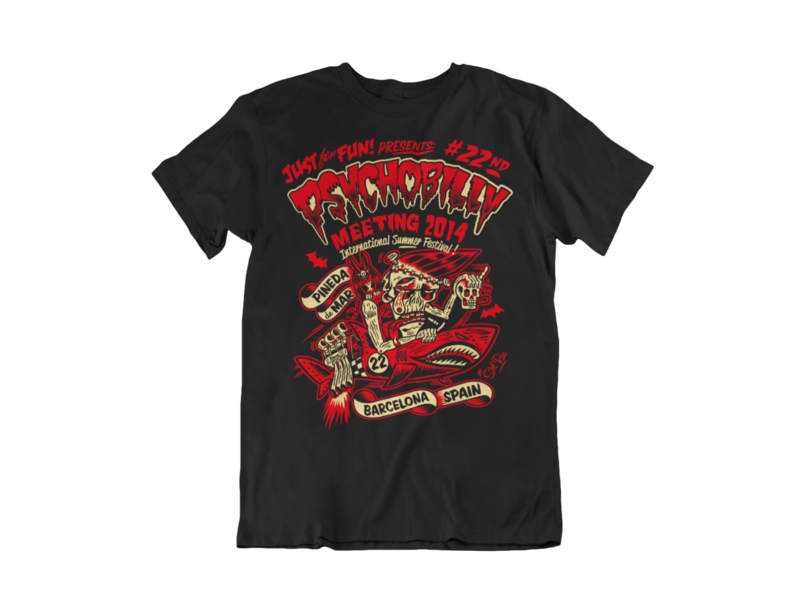 PSYCHOBILLY MEETING 2014 T-SHIRT MAN BY SOLRAC